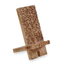 Levenger Lap Desk Stand by Carved Mango Wood Smart Phone Stand Levenger