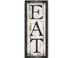 Eat Wooden Sign 11x30x2 Kitchen Decor Wall