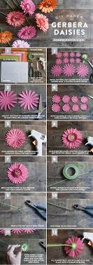 Bouquet DIY Gerbera Daisy Paper Daisies PaperGerberaTutorial