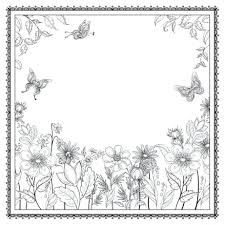 Flower Garden Coloring Pages For Adults Secret Pdf Inspirational Enchanted Forest Books Grown Large Size