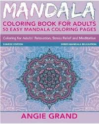 Stress Relief And Meditation LINKSHARE Mandala Coloring Book For Adults 50 Easy Pages Relaxation