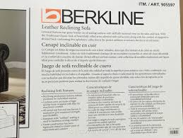 Berkline Sofas Sams Club berkline leather reclining sofa costco weekender