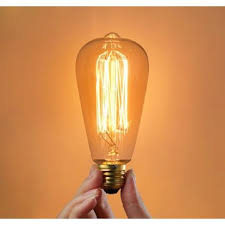 e27 60w incandescent bulb 220v st64 retro edison light bulb us 3 24