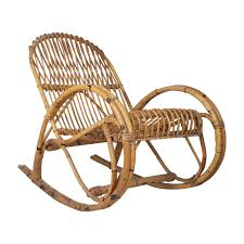 Vintage Midcentury Franco Albini Style Rattan Rocking Chair ...