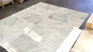 bianco carrara marble tile 12x24 youtube