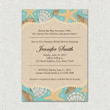 Beach Themed Bridal Shower Invitations With Best Style For Creative Invitation Template