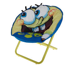Microsuede Folding Saucer Chair by Spongebob Squarepants Child Size 3 D Saucer Chair W Carry Bag
