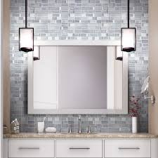 Thinset For Glass Mosaic Tile by Shop Elida Ceramica Windows Silver Mixed Material Glass And Metal
