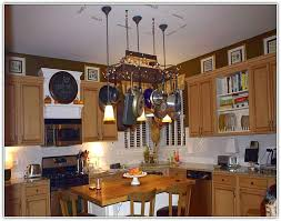 hanging kitchen pot rack with lights trendyexaminer