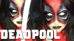 Halloween Half Mask Makeup by Deadpool Inspired Makeup Tutorial Youtube