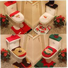 amoyer weihnachtsdeko toilettendeckel 3 set happy snowman