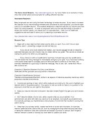 Resume Skills Summary Examples Example Of