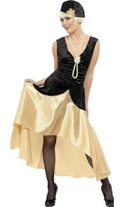 Womens Great Gatsby Fancy Dress Costume Front View