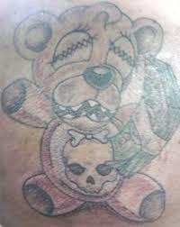 Teddy Bear With Skull And Money By Joe TattooNOW