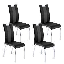 reality bari 2 vierfußstuhl 4er set in schwarz grau gestell kufe verchromt material softtex mit griff in der rückenlehne für küche oder esszimmer