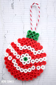 These Perler Bead Christmas Ornaments Are So Pretty And Easy To Make The