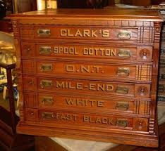 Antique Spool Cabinet Decals by Clarks 6 Drawer Oak Spool Cabinet 14795 Clarks Drawers And