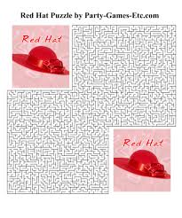 Free Printable Red Hat Party Game And Pen Paper Activity