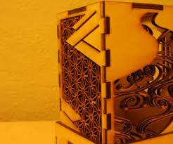 Laser Cut Lamp Shade by Japanese Design Lamp Shade