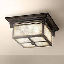 rustic lodge flush mount outdoor lighting ls plus