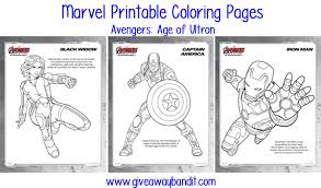 Marvel Printable Coloring Pages Avengers Age Of Ultron