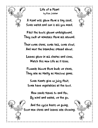 Life Cycle Of A Pumpkin Seed Worksheet by Plant Life Cycle Poem To Use For Language Arts Such A Fun Way To