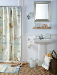 badezimmer gestaltung maritim muschel deko vorhang