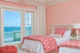 startling coral color bedding decorating ideas for bedroom