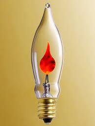 Small Candelabra Base Flickering Flame Light Bulb 3 Watt