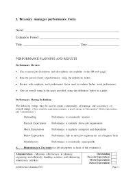 Job Description Corporate Treasury Manager Performance Appraisal 3