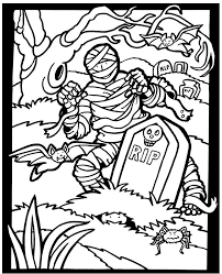 Mummy Coloring Page From Halloween Stained Glass Book Dover Publications