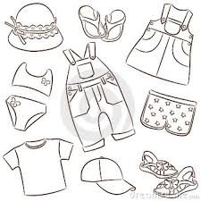 Children39s Summer Clothes Royalty Free Stock Photography Image Intended For Clothing Clipart