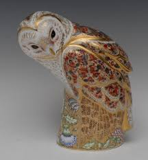 A Large Royal Crown Derby Prestige Edition Paperweight, Barn Owl ... Winter Owl Paperweight Royal Crown Derby Collection Rspb Shop A Large Prestige Edition Paperweight Long Eared The Barn Gift 91papbox62729_07jpg Lot 250 Printed Mark Colctables Exclusive Collections Robin Happy Birthday Bear A Beswick Owl 1046 2 Porcelachina Pottery Porcelain Glass