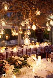 Rustic Dry Branches With Lights Wedding Decoration Ideas