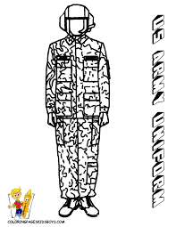 Print US Army Uniform At YesColoring Helmet Coloring Page