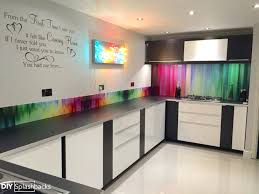 Glass Splash Backs Spectrum Rays Printed Splashbacks North Shore Auckland