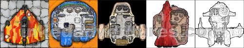 Starship Deck Plans Star Wars by Compact U0026 Worn Starship Deck Plan 6x6 Tiles Inked Adventures