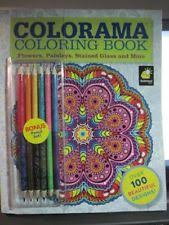 Colorama Flowers Paisleys Coloring Book With Bonus Pencils AS SEEN ON TV