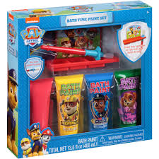 Christmas Bathroom Sets At Walmart by Nickelodeon Paw Patrol Bath Time Paint Set 6 Pc Walmart Com