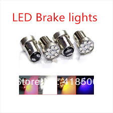 free shipping car motorcycle scooter brake lights led bulbs