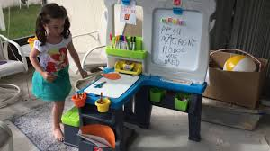 Step2 Art Easel Desk by Kid Review Of The Great Creations Art Center Youtube