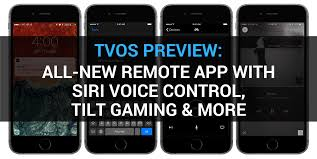 tvOS 10 preview all new Remote app with Siri voice control tilt