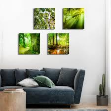 dekoration natur leinwand deko bilder wald landschatf