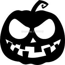 Black And White Scary Pumpkin Clipart with regard to Black Halloween Pumpkin