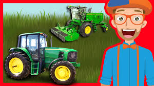 100 Videos Of Trucks Tractors And For Children By Blippi Educational
