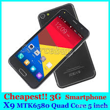 Best Newest X9 Cheap Mobile Phones 5 Inch Mtk6580 Quad Core