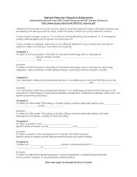 Objectives For A Resume Examples Job Resumes Any