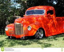 100 Low Rider Truck Restored Bright Orange Half Ton Editorial