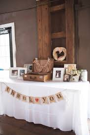 A Vintage Suitcase And Burlap Bunting Decorated The Gift Table Photo By Taylor Whitham Photography