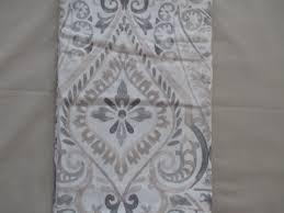 Cynthia Rowley White Window Curtains by Cynthia Rowley Fabric Shower Curtain Agua Medallion Greys Tan U0026 White